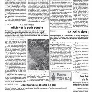Article de journal pour Olivier et le Petit Peuple (tome 1)